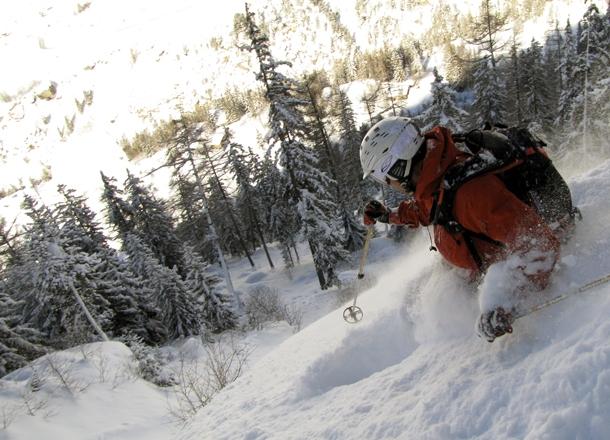 Deep powder in Maurienne.