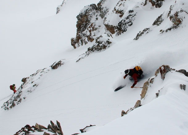 Steep off piste in Maurienne.